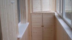 Вагонка для отделки балкона и лоджии