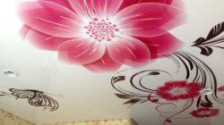 Натяжные потолки с рисунком – варианты
