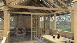 Размещение кухни и веранды при проектировании дома