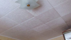 Покрытие для потолка из полистирольных плиток